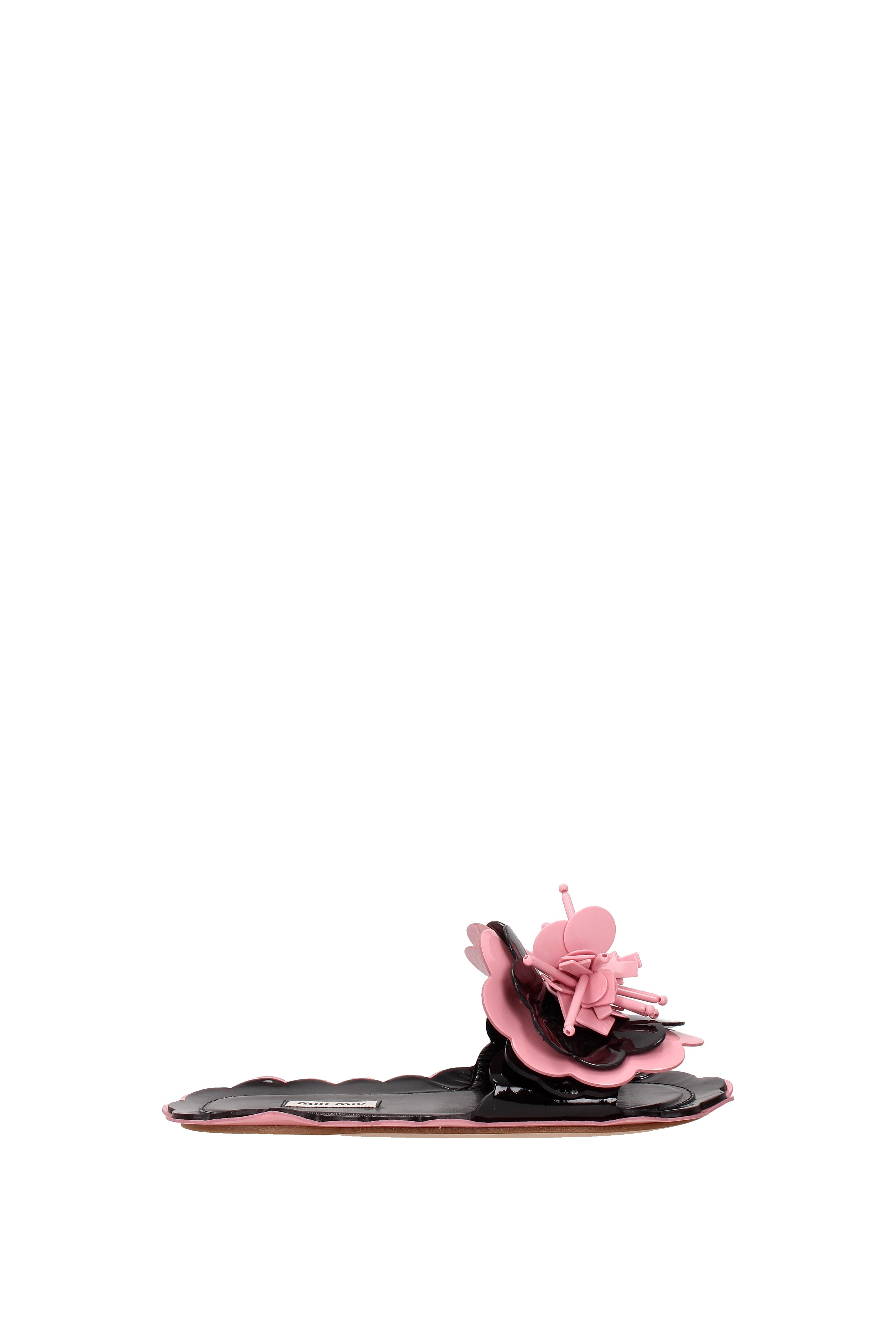 FLIP-FLOPS e in legno Scarpe MIU MIU donna in e pelle - (5xx147) 528889